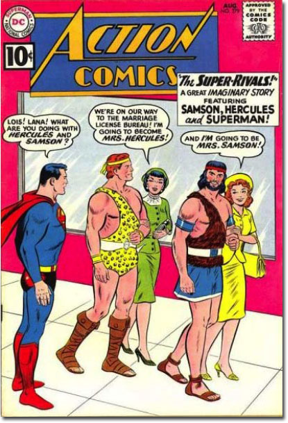Also, Jimmy is going to become Mrs. Zeus!' 'Help me, Superman ...