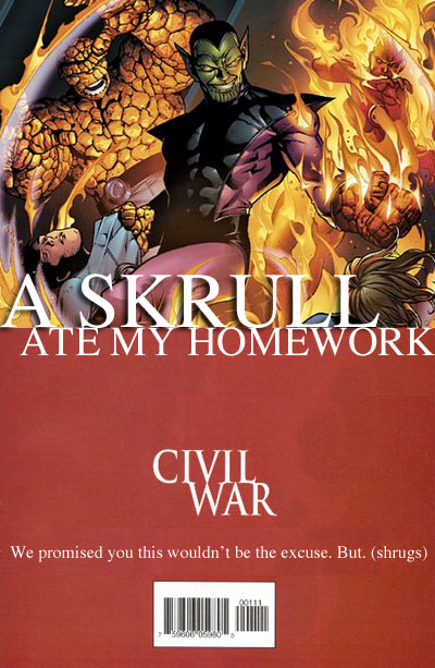 A Skrull Ate My Homework