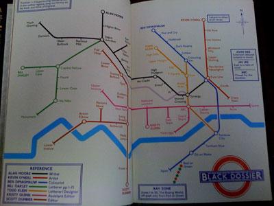 League of Extraordinary Gentlemen map
